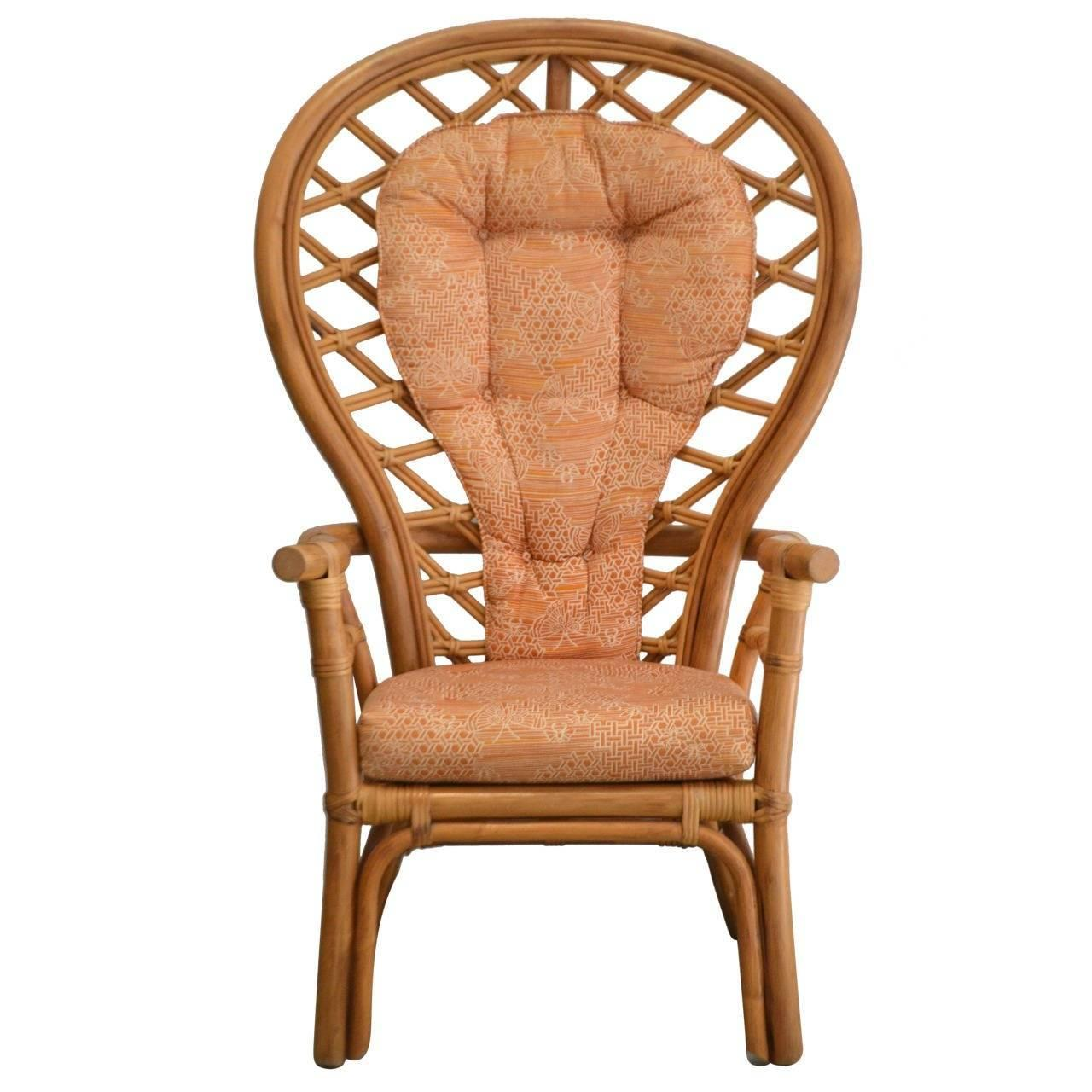 Midcentury Bamboo Armchair Or Occasional Chair For Sale