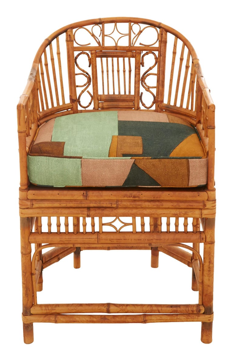 Mid-Century Modern Midcentury Bamboo and Cane Armchair For Sale