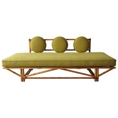 Mid Century Bamboo Daybed Sofa