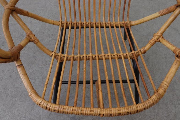 Midcentury Bamboo Lounge Chair For Sale 3