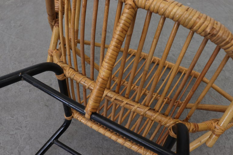 Midcentury Bamboo Lounge Chair For Sale 5