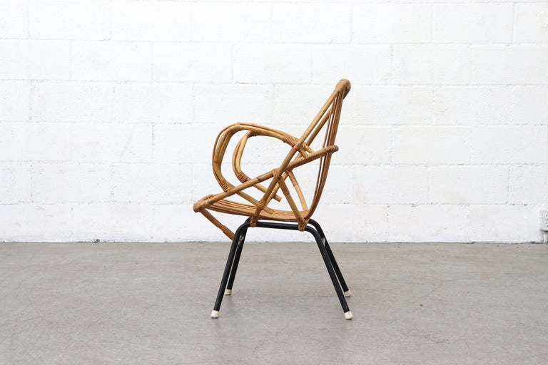 Mid-Century Modern Midcentury Bamboo Lounge Chair For Sale