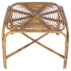 Midcentury Bamboo Table in the Style of Franco Albini, Italy