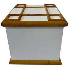 Mid-Century Bamboo Trimmed Ice Bucket, 1960s