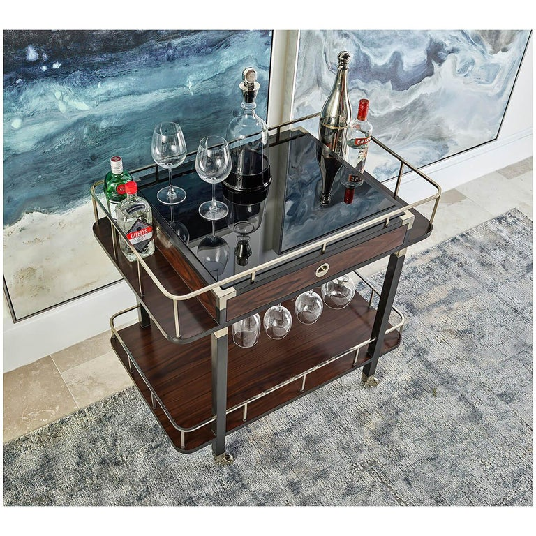 Wood Midcentury Bar Cart For Sale
