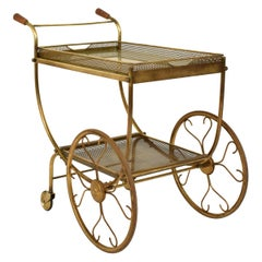 Midcentury Bar Cart or Trolley by Josef Frank for Svenskt Tenn, Sweden, 1950s
