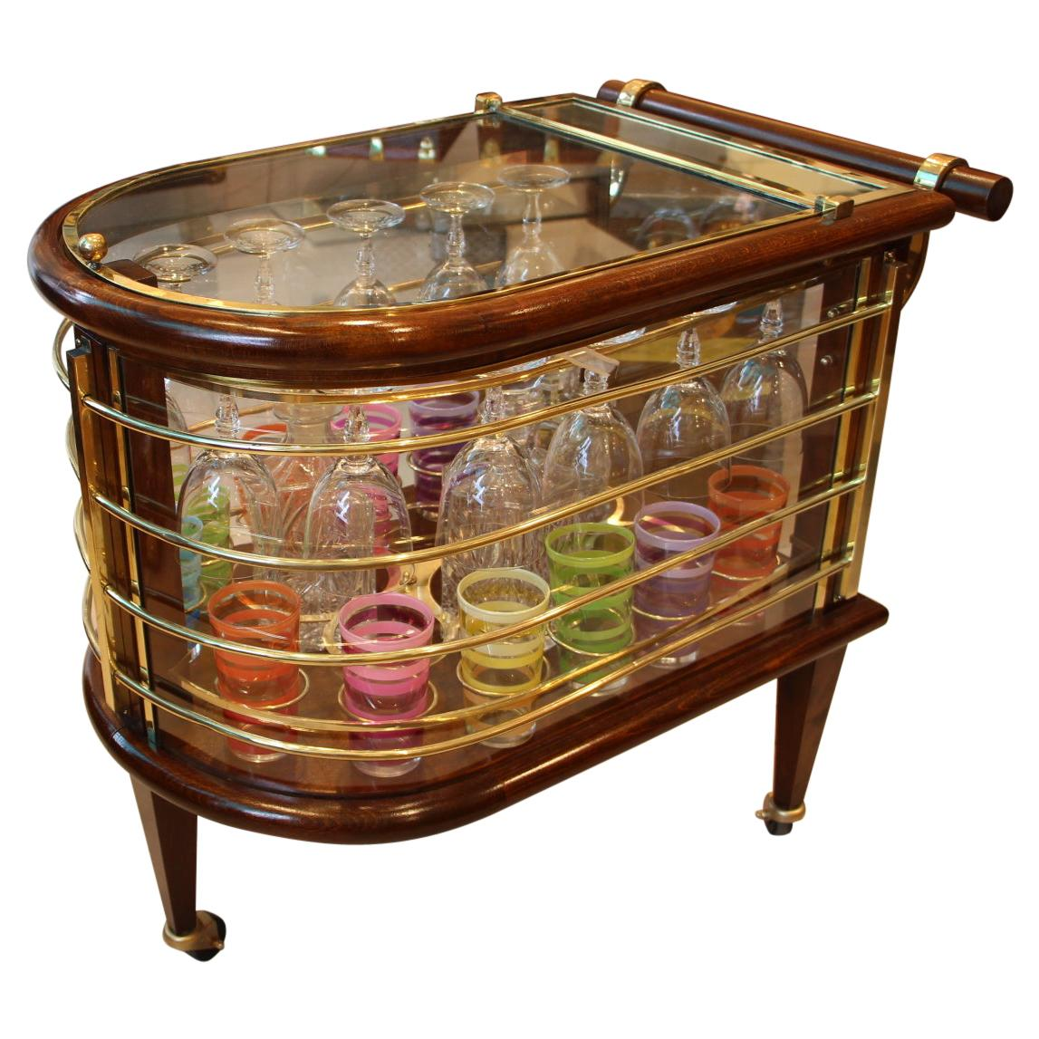 Mid-Century Bar Cart / Trolley, Louis Sognot, France, 1960's