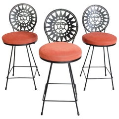 Mid Century Bar Stools Designed by Arthur Umanoff for Shaver Howard