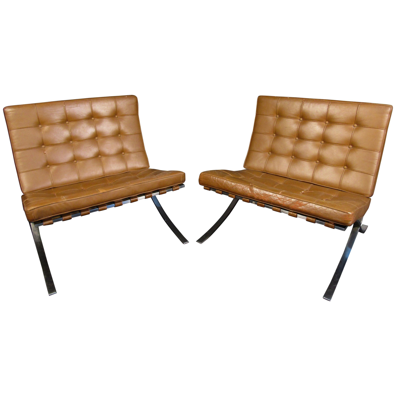 Mid-Century Barcelona Lounge Chairs