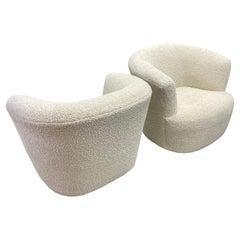 Mid Century Barrel Swivel Chairs