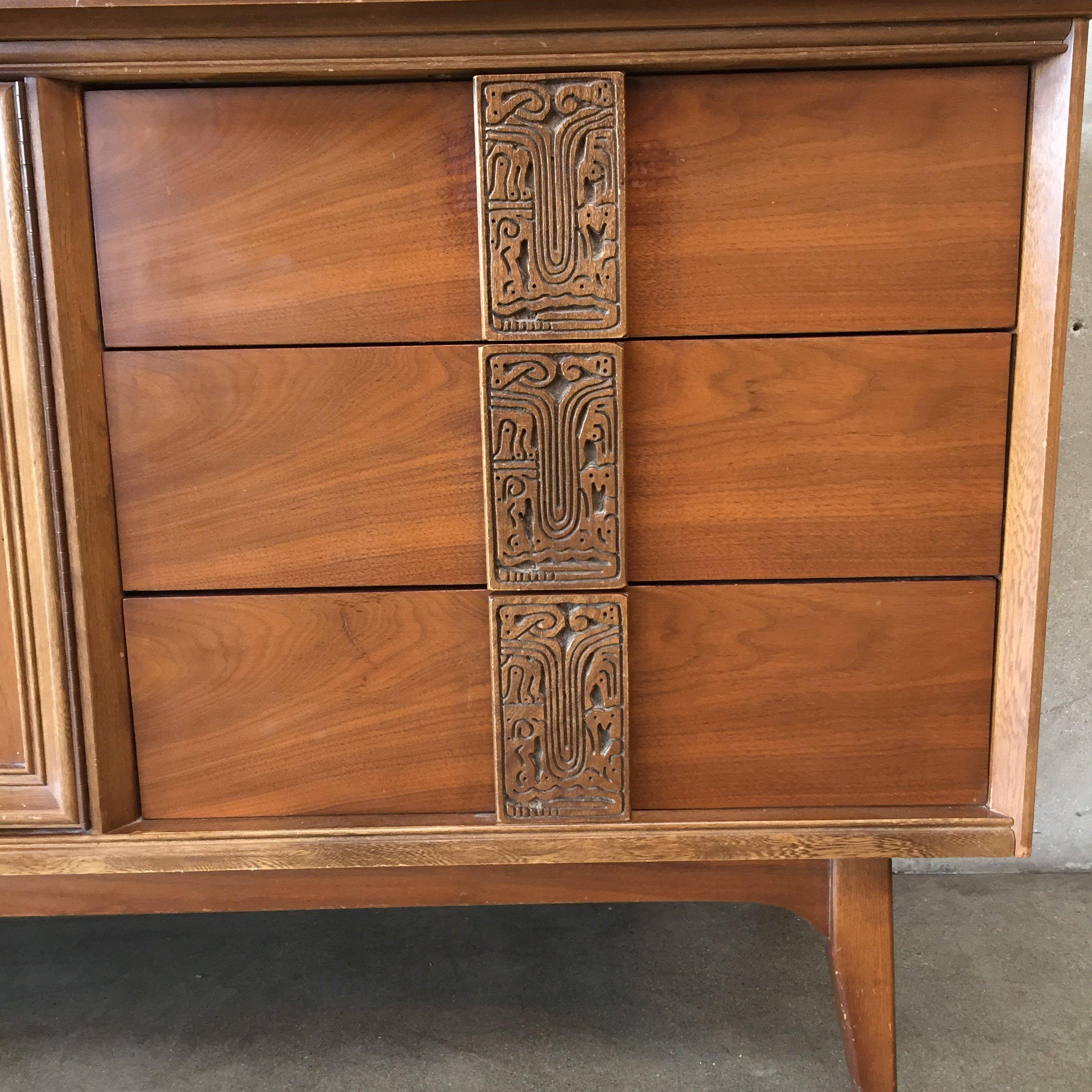 Image of: Midcentury Bassett Dresser From The Mayan Collection For Sale At 1stdibs