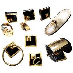 Bathroom Set 24-Karat Gold-Clad Bronze, Never Used. 80s