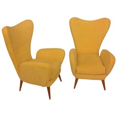 Mid-Century Beautiful Pair of Italian Armchairs