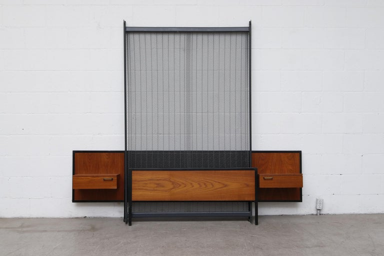 Midcentury Bed with Built in Nightstands For Sale 9