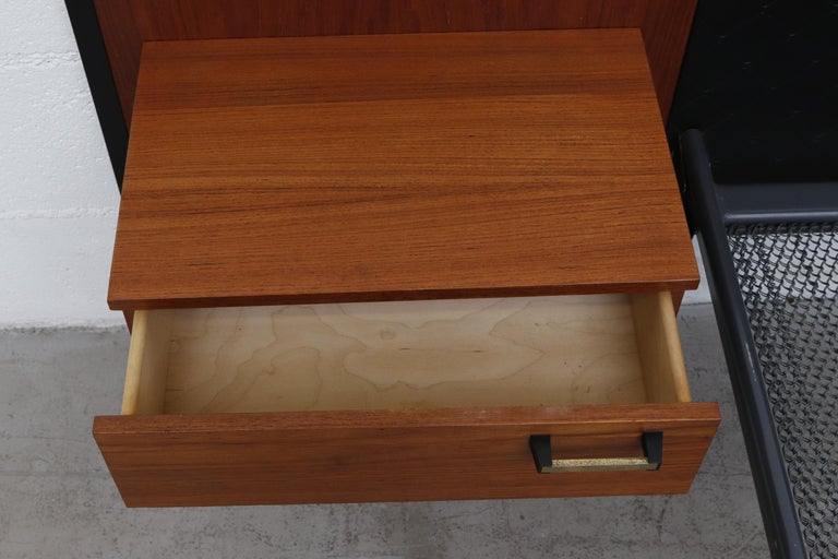 Midcentury Bed with Built in Nightstands In Good Condition For Sale In Los Angeles, CA