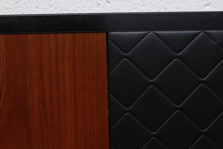 Metal Midcentury Bed with Built in Nightstands For Sale