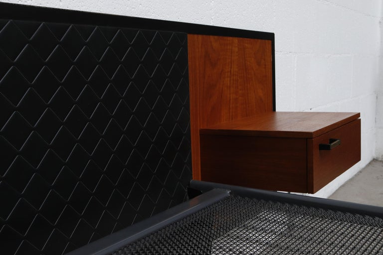 Midcentury Bed with Built in Nightstands For Sale 2