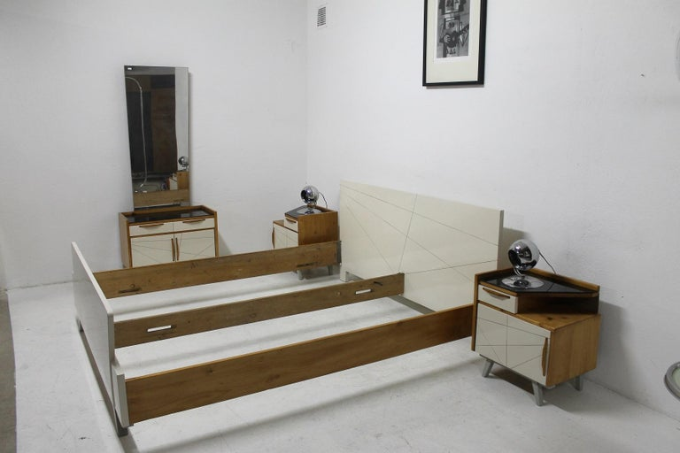 Midcentury Bedroom Set, Expo 58, Czechoslovakia For Sale 13