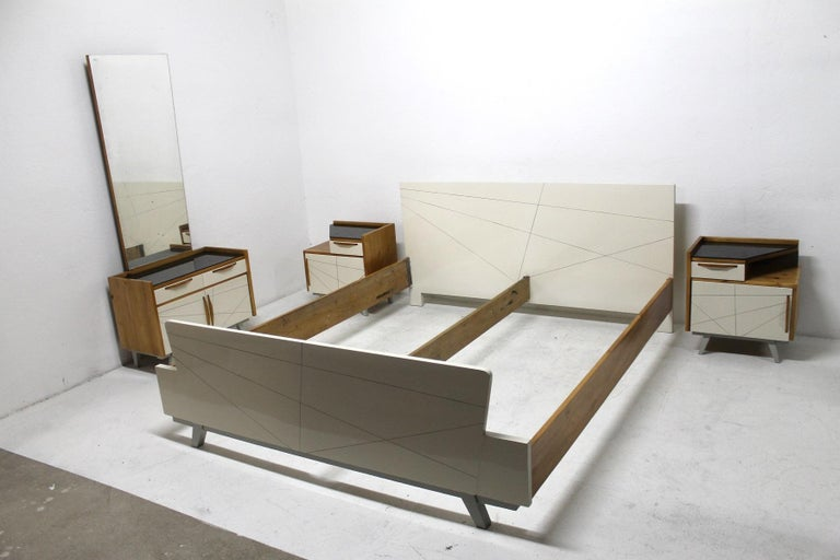 Mid-Century Modern Midcentury Bedroom Set, Expo 58, Czechoslovakia For Sale