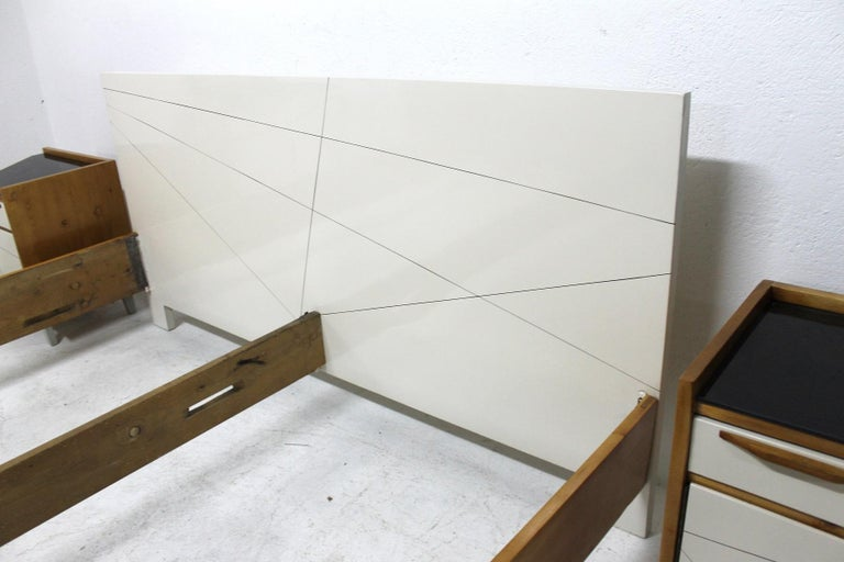 Glass Midcentury Bedroom Set, Expo 58, Czechoslovakia For Sale
