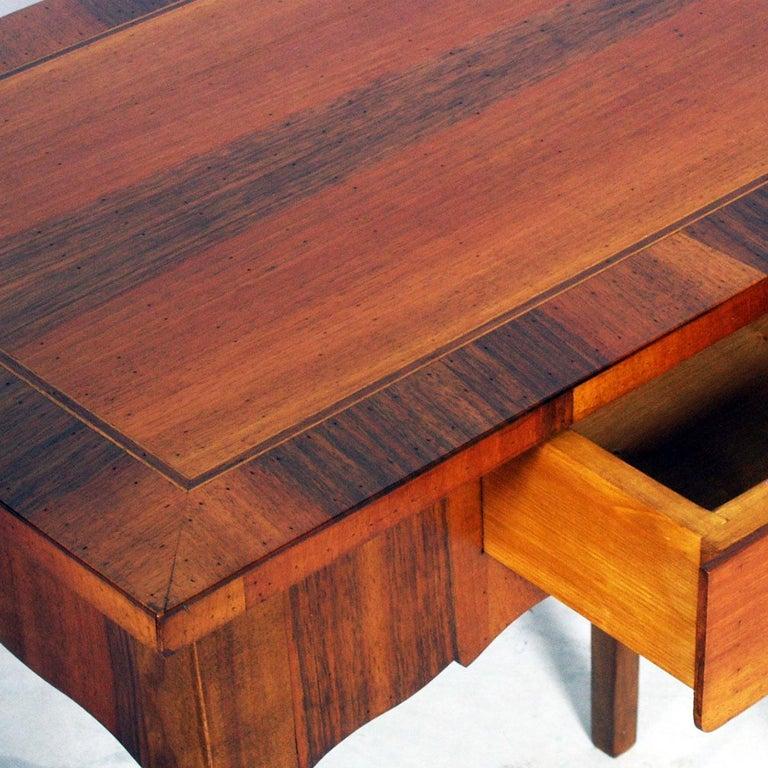 Italian Early 20th Century Side Table, Nightstand Walnut and veneer Walnut inlay , 1920s For Sale