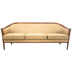 Midcentury Beige Sofa, Danish Design, 1960s