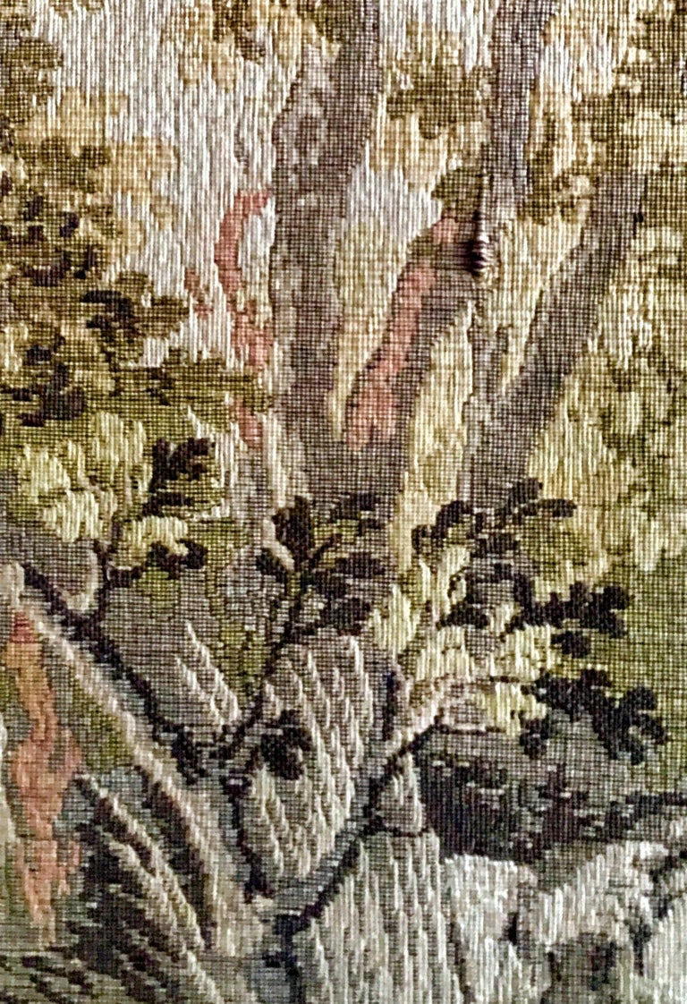 Mid-Century Belgium Aubusson Style Framed Tapestry For Sale 1