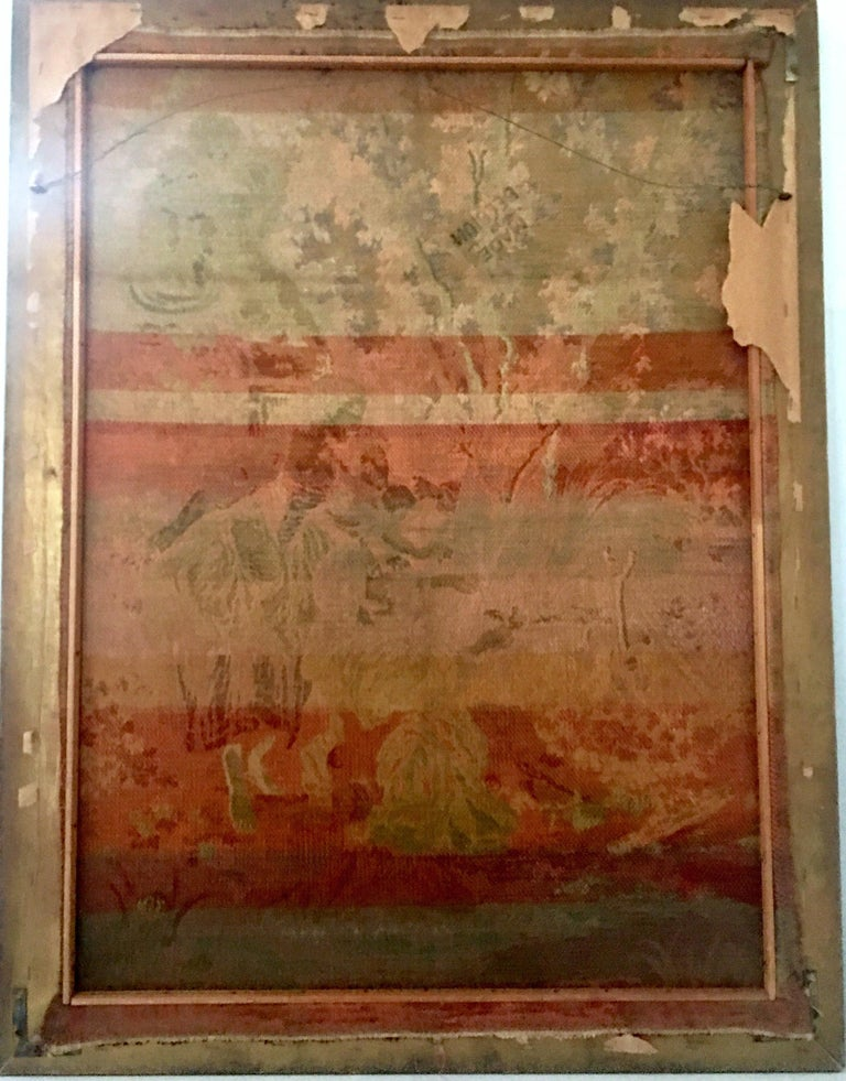 Mid-Century Belgium Aubusson Style Framed Tapestry For Sale 4
