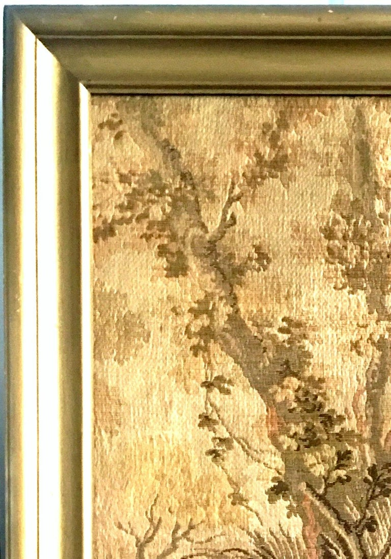 Mid-Century Belgium Aubusson Style Framed Tapestry For Sale 3