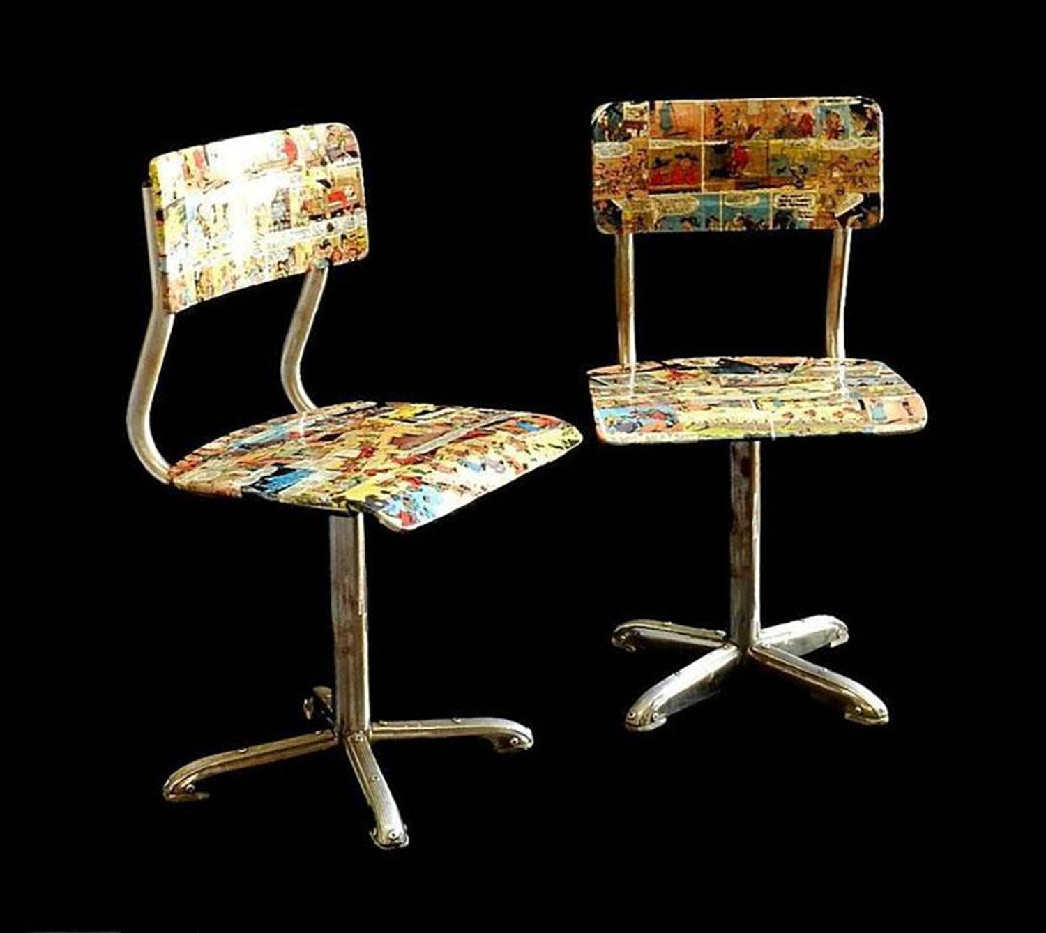 Admirable Midcentury Bentwood Childs Chair 1950S Comic Decoupage Lucky Luke Download Free Architecture Designs Scobabritishbridgeorg