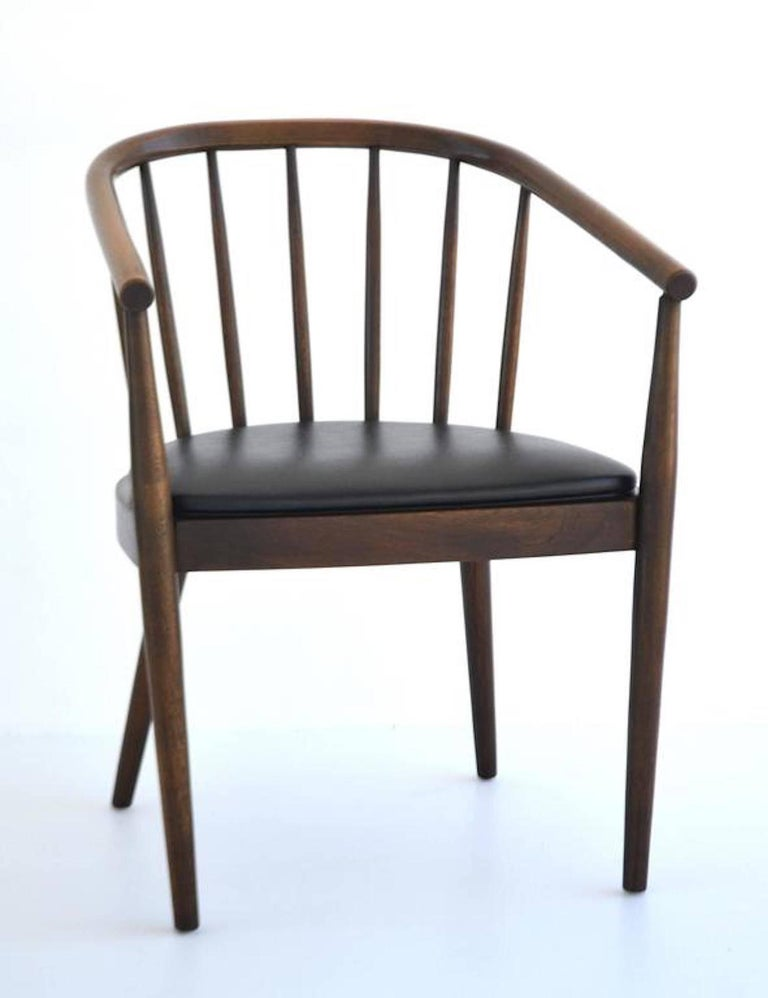 Midcentury Bentwood Side Chair By Lawrence Peabody For