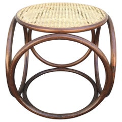 Mid Century Bentwood Stool Attributed to Michael Thonet