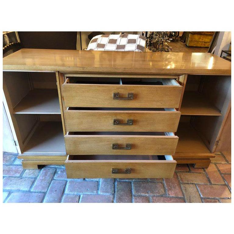 Mid Century Bernhardt Credenza or Dresser with Greek Key Handles For Sale 10