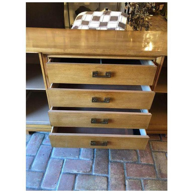 Mid Century Bernhardt Credenza or Dresser with Greek Key Handles For Sale 13