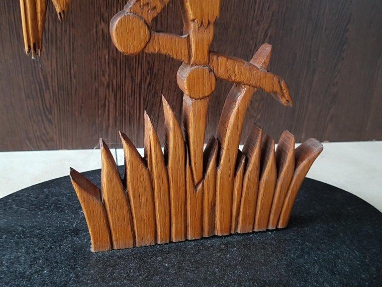 Wood Midcentury Bird Side Table, Denmark, 1960s