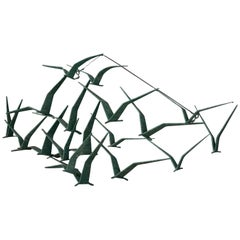 Mid Century 'Birds in Flight' C. Jere Sculpture