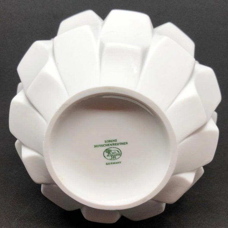 Midcentury Bisquit Artichoke Vase by Heinrich Fuchs for Hutschenreuther, 1960s 6