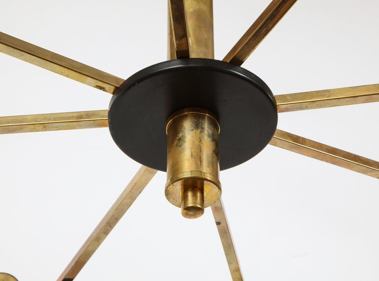 Mid-Century Black and Brass Ceiling Light by Stilnovo, Italy, c. 1950s For Sale 6