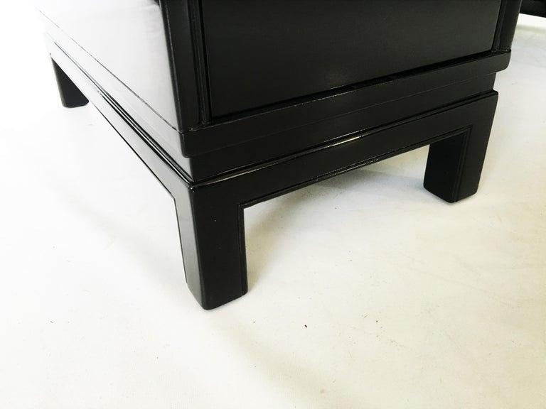 Midcentury Black Lacquered Desk by Landstorm Furniture For Sale 2