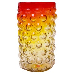 "Mid-Century Blenko Amberina Blown Glass ""Bubble"" Vase by Wayne Husted"