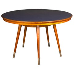 Midcentury Blue Top Dining or Center Table Attributed to Gio Ponti
