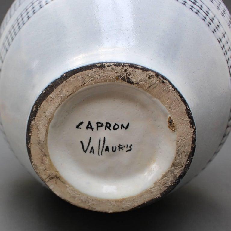 Mid-Century Blue Ceramic 'Eared' Vase (Vase à Oreilles) by Roger Capron, 1950s For Sale 5