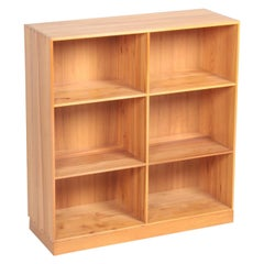 Midcentury Bookcase in Elm Designed by Mogens Koch, Danish Design
