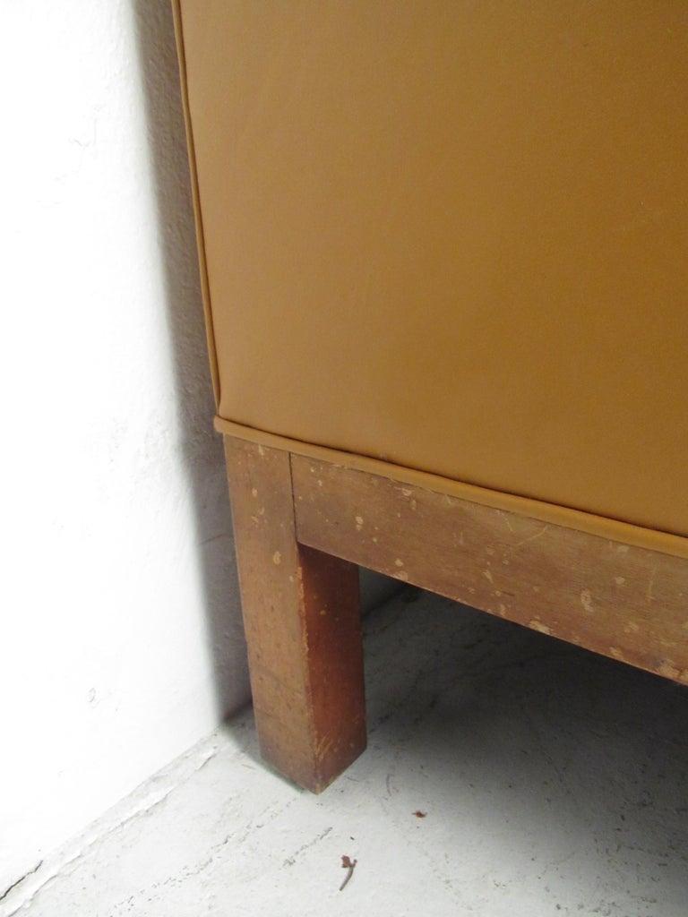 Midcentury Borge Mogensen Style Leather Sofa For Sale 8