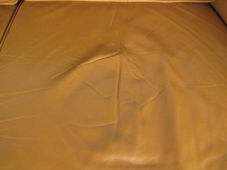 Midcentury Borge Mogensen Style Leather Sofa For Sale 9