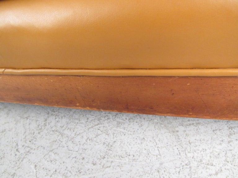 Midcentury Borge Mogensen Style Leather Sofa For Sale 3
