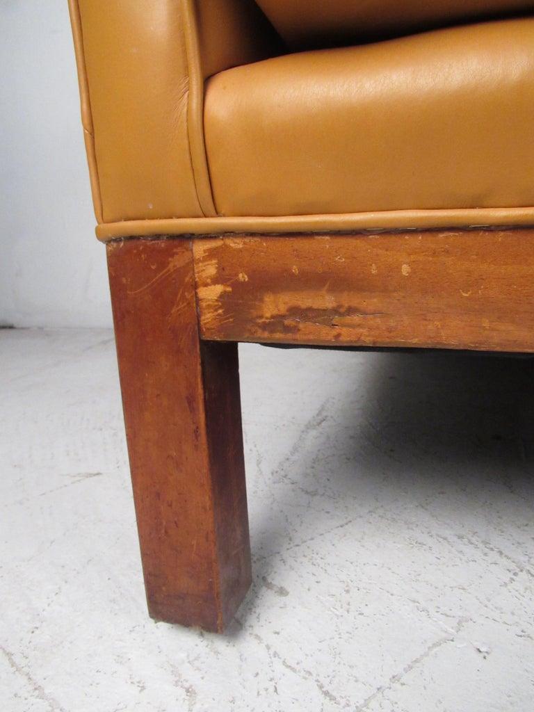 Midcentury Borge Mogensen Style Leather Sofa For Sale 4