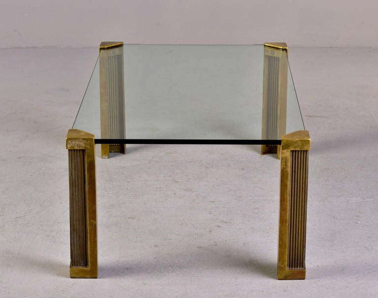 Mid Century Brass and Glass Coffee Table Designed by Peter Ghyczy For Sale 5
