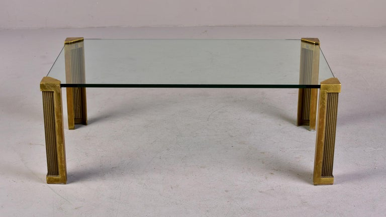German Mid Century Brass and Glass Coffee Table Designed by Peter Ghyczy For Sale