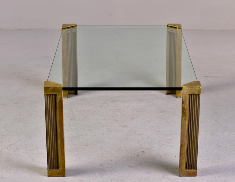 20th Century Mid Century Brass and Glass Coffee Table Designed by Peter Ghyczy For Sale